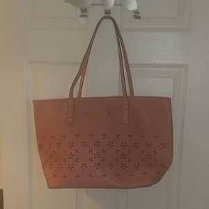 F28973 coach city laser tote with rose flowers